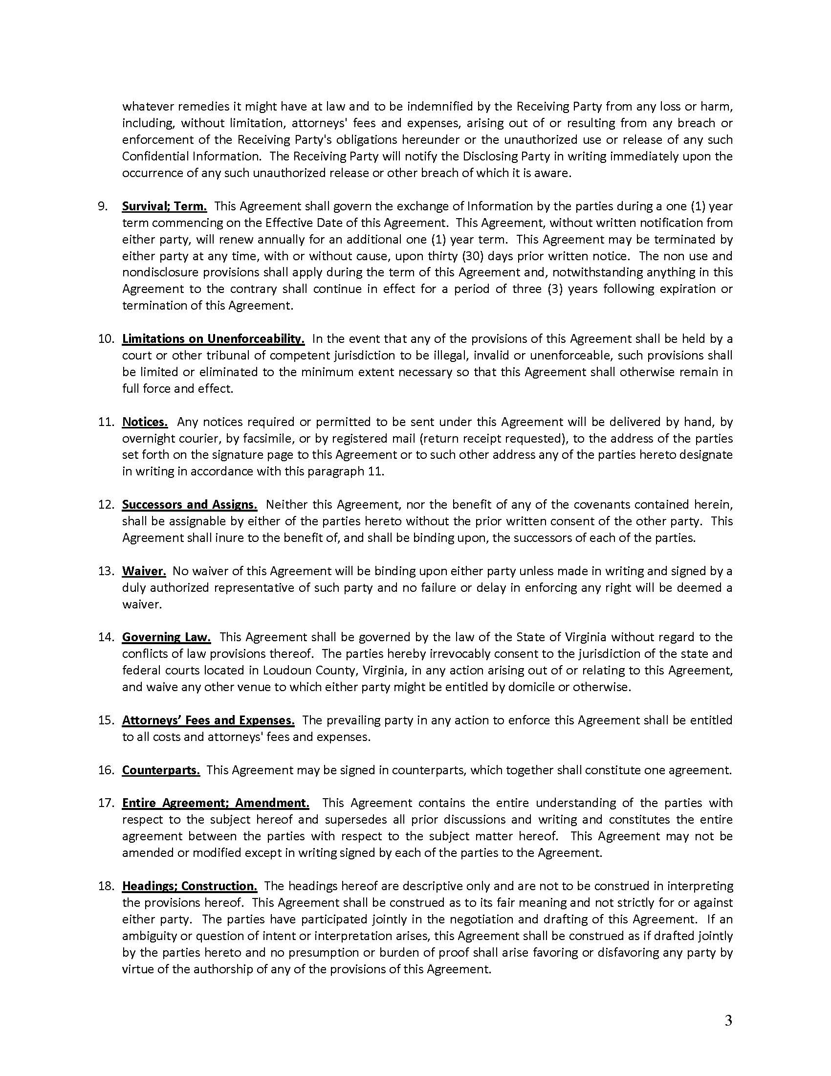Mutual Non Disclosure Agreement Us Transactions Corporation
